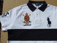 Polo Ralph Lauren Color-Block Cust. Fit Big Pony Polo Summer Classic White Sz L