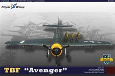 Flight Wing WWII US TBF AVENGER TORPEDO BOMBER w/ 3 Pilot figures 1/18 USA SHIP