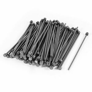 2.5mm Tip 5mm Shank Diameter Steel Straight Ejector Pin Machinist 100pcs