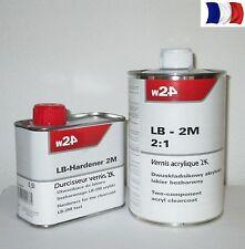 Pack 1L de vernis brillant + 0,5L Durcisseur 2K pour moto  P.S.