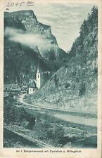 Au im Bregenzer Wald mit Canisfluh und Mittagsfluh bei Bregenz, alte Ak von 1926