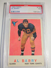 1959 AL BARRY #138 TOPP'S PSA NM 7 FOOTBALL CARD