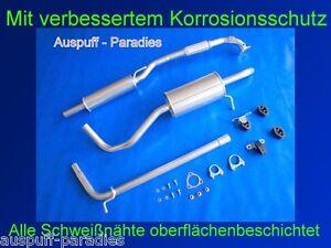 Abgasanlage Auspuff für VW Polo IV 1.2 Typ 9N3 (54 - 69PS) ab 11/ 2005 +Anbaukit