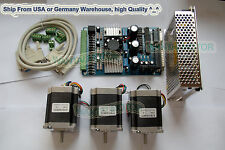 【USA Ship】Wantai Nema 23 Stepper Motor 185oz-in,2A +3 Axis Board 3D CNC Kit