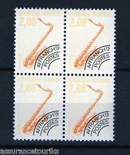 PRÉOBLITÉRÉS - 1990 YT 215 - bloc de 4 - TIMBRES NEUFS** LUXE