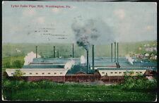 WASHINGTON PA Tyler Tube Pipe Mill Antique 1914 Postcard Vtg Early Town View PC