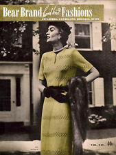 Bear Brand #341 c.1950 - Vintage Patterns for Hand Knit Fashions for Women