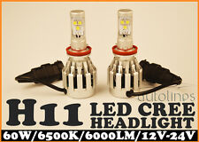 H11 LED CREE 6000LM 60W Car Bright White Headlight Lamp High Kit Globes Bulb HID