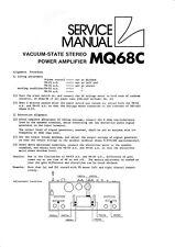 Service Manual-Instructions pour Luxman mq-68 C