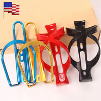 2PCS Aluminum/Plastic MTB Road Bike Bicycle Water Bottle Cage Drink Cup Holder