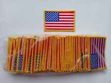 """50 Pcs USA Flag (G) Embroidered Patches 3.5""""x2.25"""" iron-on"""