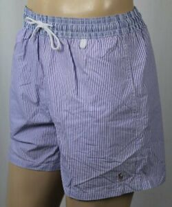 Ralph Lauren Purple Stripe Swim Shorts Trunks Multi Colored Pony NWT