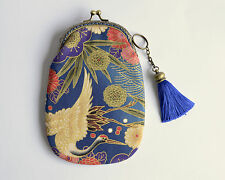Hand crafted gold embossed Japanese coin purse phone case collectable #0018