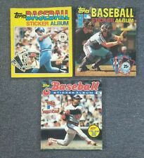 1981-1982-1983 FIRST EDITION TOPPS MLB BASEBALL STICKER ALBUMS COMPLETE SETS (3)