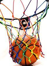 Handmade Rainbow Custom Basketball Net (NBA Rim Size) For Sale by Artist