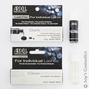 2 ARDELL LashTite For Individual Lashes Adhesive 3.5g - Clear / Dark set *Joy's*