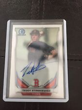 Teddy Stankiewicz AUTO 2014 Bowman Chrome Autograph Red Sox Stud