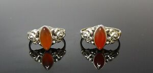 Handmade 925 Sterling Silver Boho Style Real Carnelian Stone Ring Size L or P