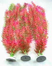 "(Pack of 3) 18"" Artificial Plastic Decoration Aquarium Plant For Fish Tank New"