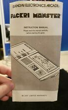 PACKRI MONSTER Instructions for Bandai vintage electronic handheld game  pacman