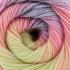 Pale Pastel Rainbow Swirl Gradient Batik Yarn 100g wool crochet knitting DK