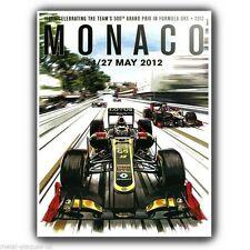 METAL SIGN WALL PLAQUE MONACO Grand Prix 2012 advert poster art print