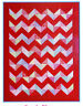 PATTERN - Candy Bloom Chevron Quilt - pieced quilt MINI PATTERN - Creative Card