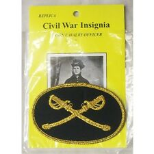 "REPLICA CIVIL WAR INSIGNIA UNION CAVALRY OFFICER PATCH 3 1/2"" X 2 1/2"" NEW"