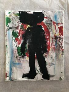 Hasworld Original painting contemporary pop abstract Mickey Mouse silhouette b