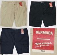NWT Women Junior Arizona Bermuda Shorts  Black  or  Tan   SIZES  0 - 1- 3- 7- 15