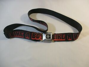 """Buckle Down Mustang """"Like A Boss"""" Graphic Black/Red Belt Men's"""