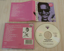 CD ALBUM WONDERFUL STEVIE WONDER 20 ORIGINAL HOT HITS 20 TITRES 1994