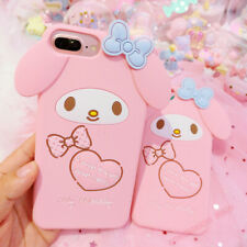 Cute Pink My Melody Rabbit Silicone Case cover For iphone 11 Pro Max 6S/7/8 PLUS