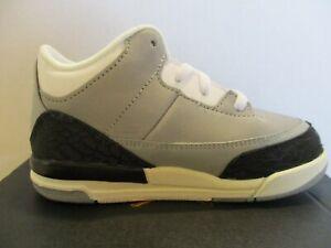 Nike Air Jordan 3 Retro Smoke Grey/Chlorophyll #832033- 006 Toddler (TD) 3c