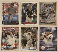 ⚾️Gary Sanchez 6-CARD LOT including ROOKIE 2016 Bowman #143, New York Yankees