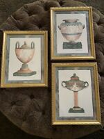 Gold Framed Prints Greek Roman Art Collection Vases Watercolor Look Excellent