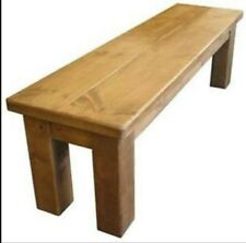 """any size made""  SOLID WOOD CHUNKY RUSTIC PLANK TABLE BENCH SAWN PINE FURNITURE"