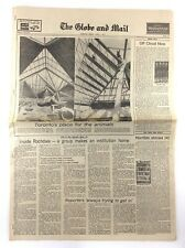 Vintage June 1 1973 Globe Mail Fourth Section Newspaper New Toronto Zoo K736