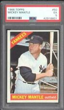 1966 Topps #50 Mickey Mantle Yankees PSA 5 - EX