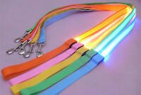 4FT LED PET GLOW-IN -THE-DARK LEASH dog cat night safety neck flash (1FT light)