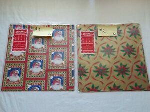 Variety Of 12 Different Vtg Pkgs Of Christmas Wrap By C.R. Gibson & Others