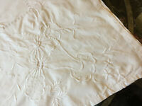 VINTAGE Large White Whitework Embroidered Rectangle Tablecloth 64 X 55""