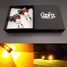 2x H11 H8 H16 3000K Yellow 100W High Power LED CREE Fog Light Driving Bulb DRL