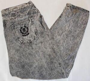 Vintage 1990's PS Gitano Acid Wash High Waist Mom Style Denim Jeans Size 37Wx25L
