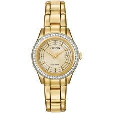 Citizen Silhouette Eco Drive Women's FE1122-53P Crystal Accents 28mm Watch