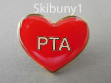 PTA volunteer red heart pin teachers school NIB wholesale High Epoxy finish. NEW