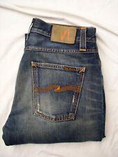 NUDIE Jeans W32 L34 50 Big Bengt Straight Reg 100% Cotton Blau 501 Denim Hose