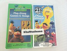Lot Two (2) Sesame Street VHS Tapes Play-Along Games & Songs Musical Celebration