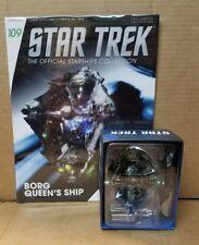 Star Trek Eaglemoss Starship Borg Queen's Ship & magazine 109