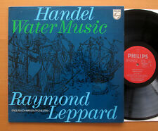 Philips ACB 00180 Handel agua música Raymond Leppard 1970 casi como nuevo/ex Italia